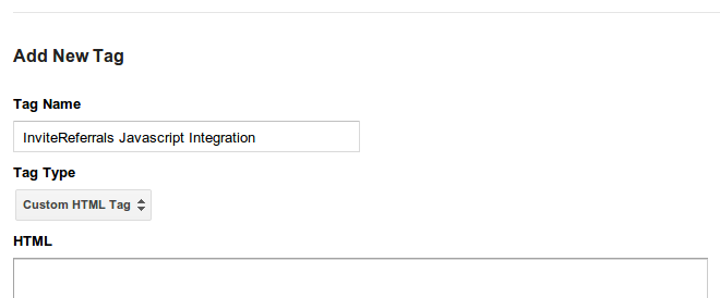 Google tag manager referral integration