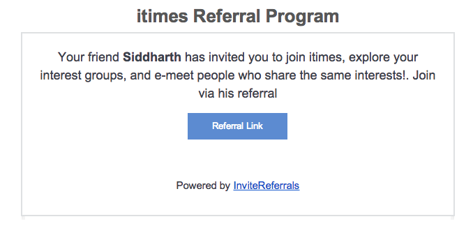 Email customer referral option - invitereferrals
