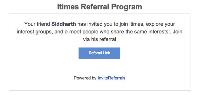 Email customer referral option - invitereferrals