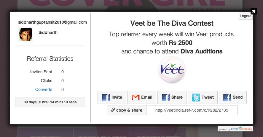veet referrals