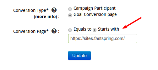Invite referrals conversion page