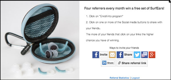 Surfears Kickstarter Referral program