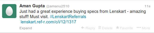 lenskart refer a friend twitter
