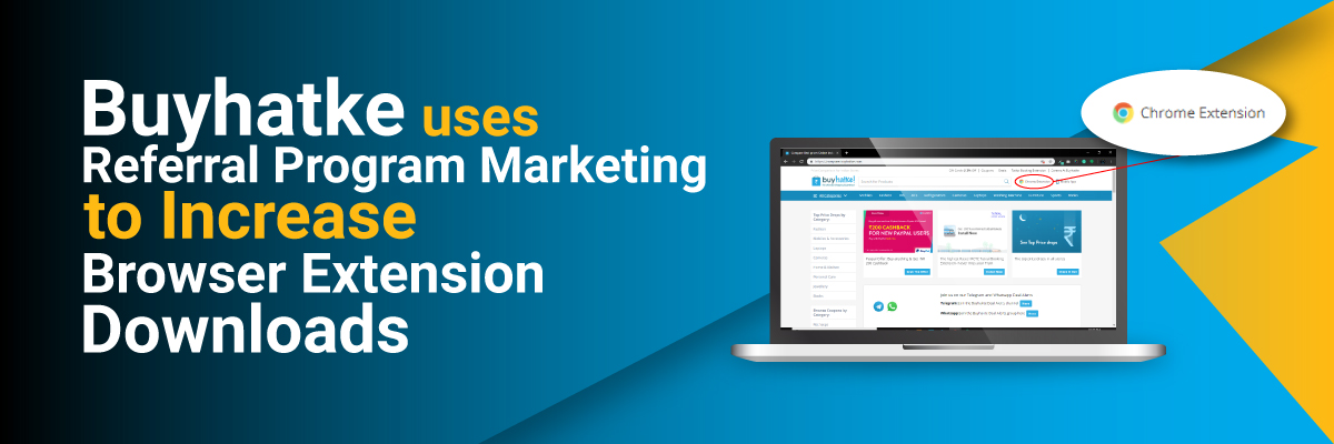 Buyhatke-uses-referral-program-marketing-to-increase-browser-extension-downloads-banner