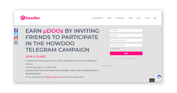 howdoo referral program