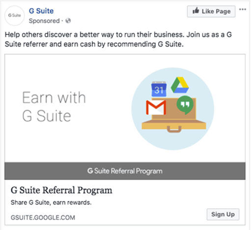 social media referral program template