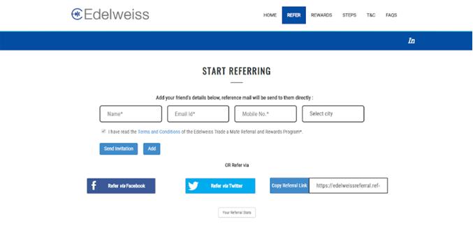 Edelweiss referral program example