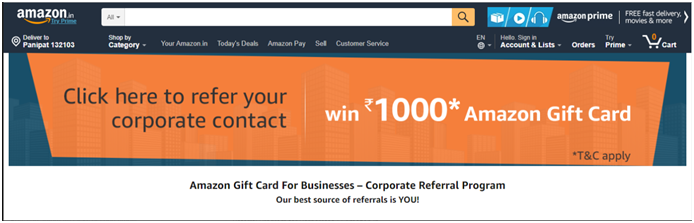 amazon B2B referral programs