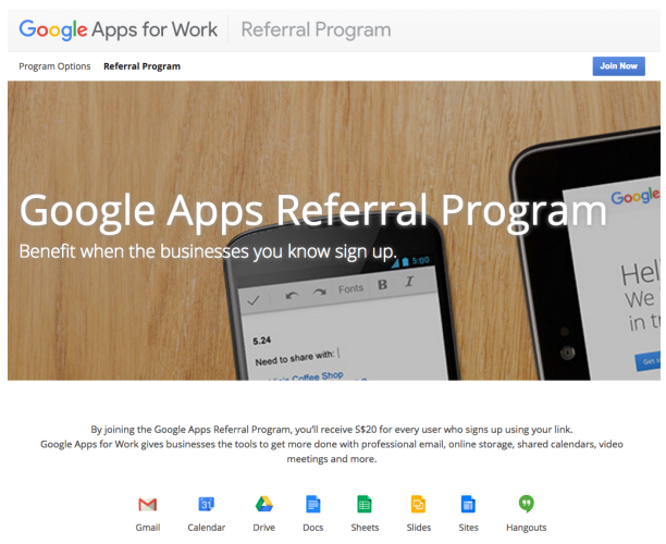 google B2B referral programs