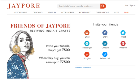 referral marketing jaypore