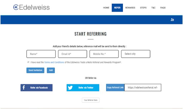 edelweiss referral program software