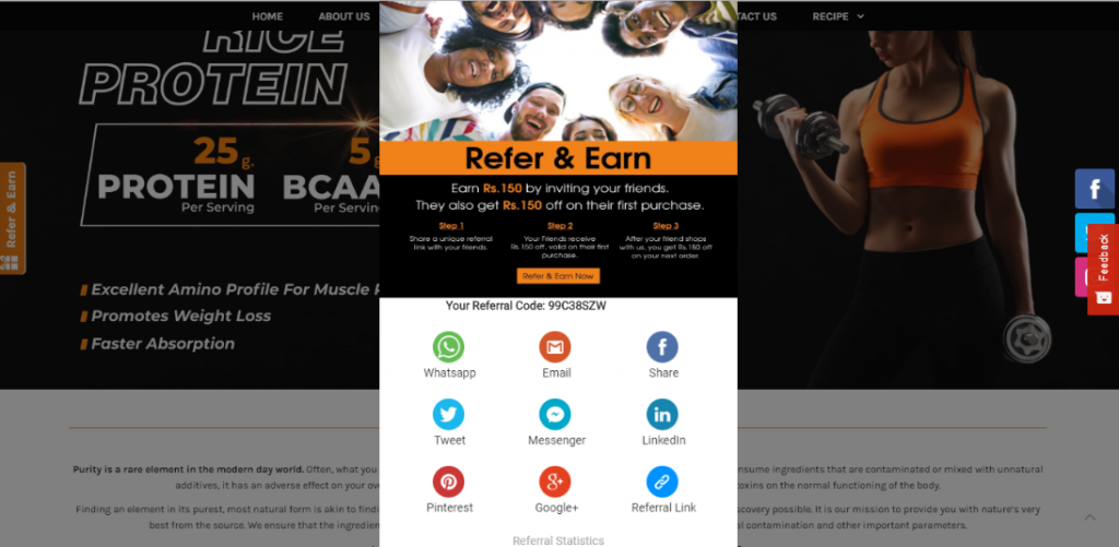 fitness sector referral marketing software