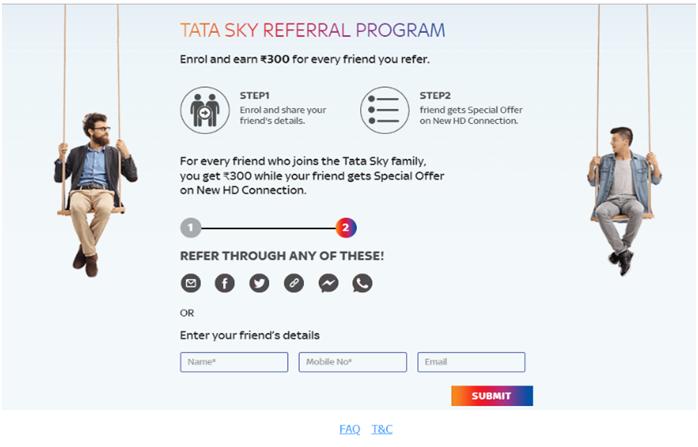 tata sky referral program