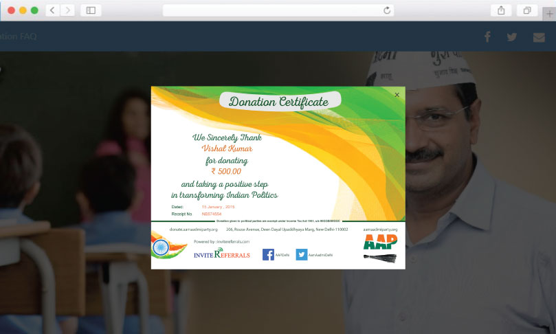 AAP referral donation