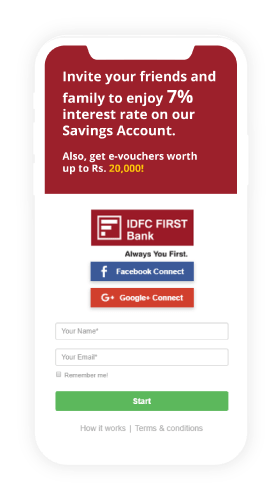 referral home page idfc