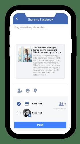 facebook referral share