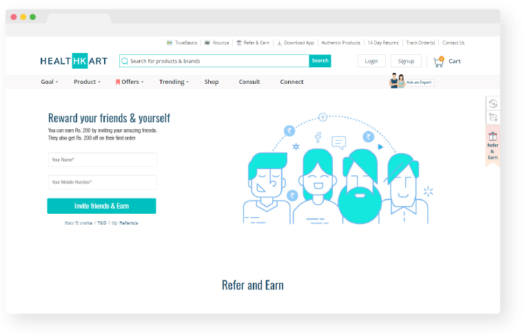healthkart referral program