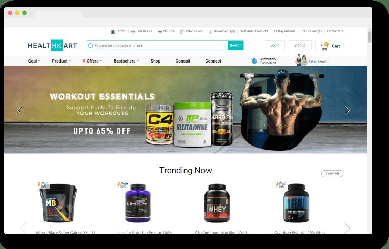 healthkart homepage