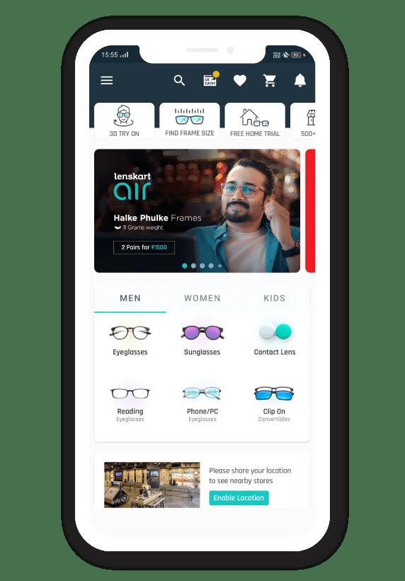 lenskart home page