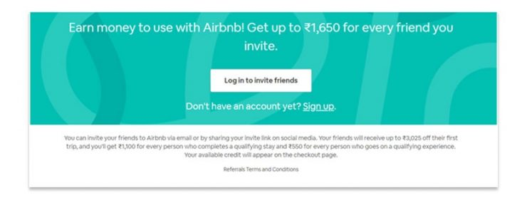 Air bnb referral program