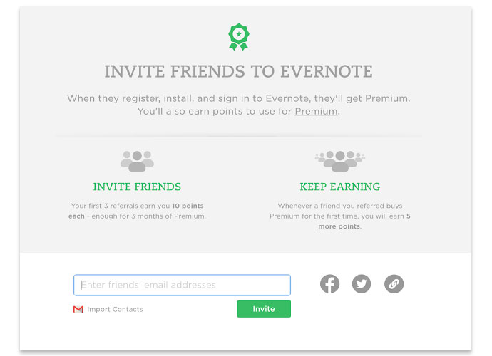 best refer a friend evernote