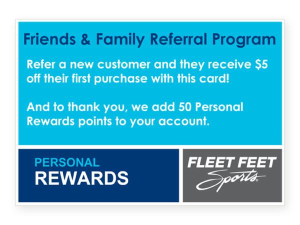 Fleet feet referral cards