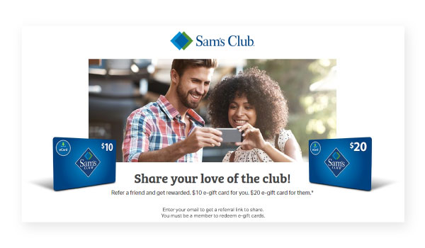 sam's club referral cards