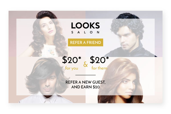 looks salon referral cards