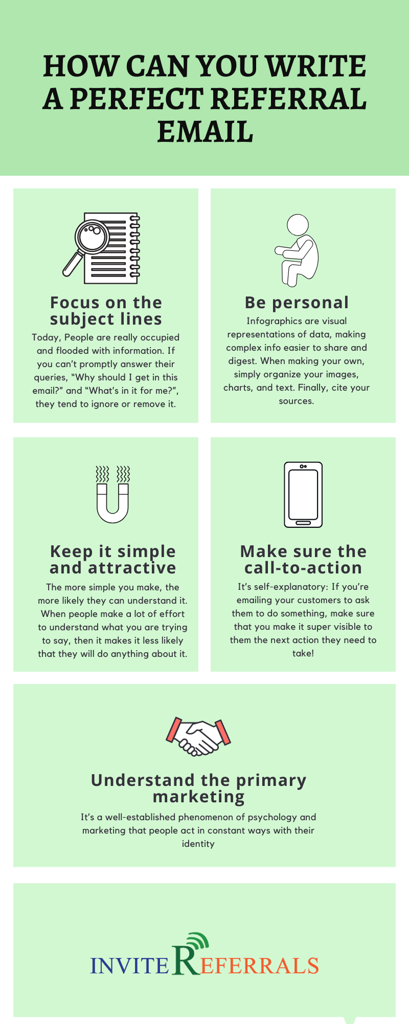 perfect referral email Infographic