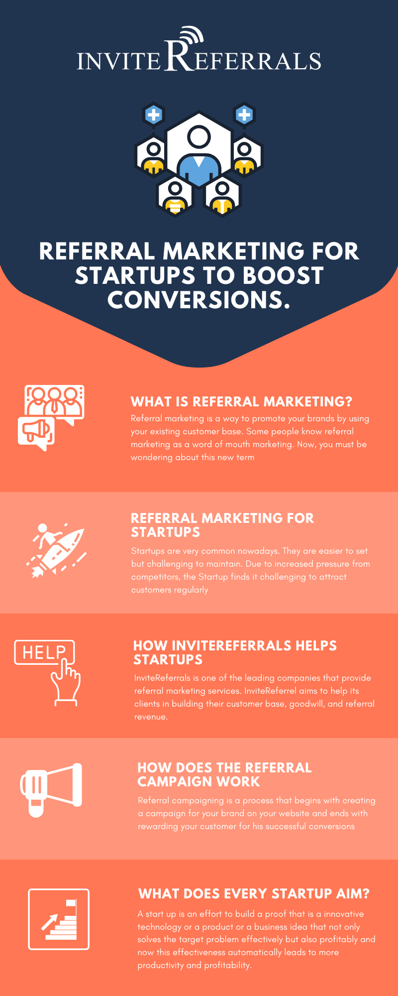 Referral Marketing For Startups to Boost Conversions Infographic