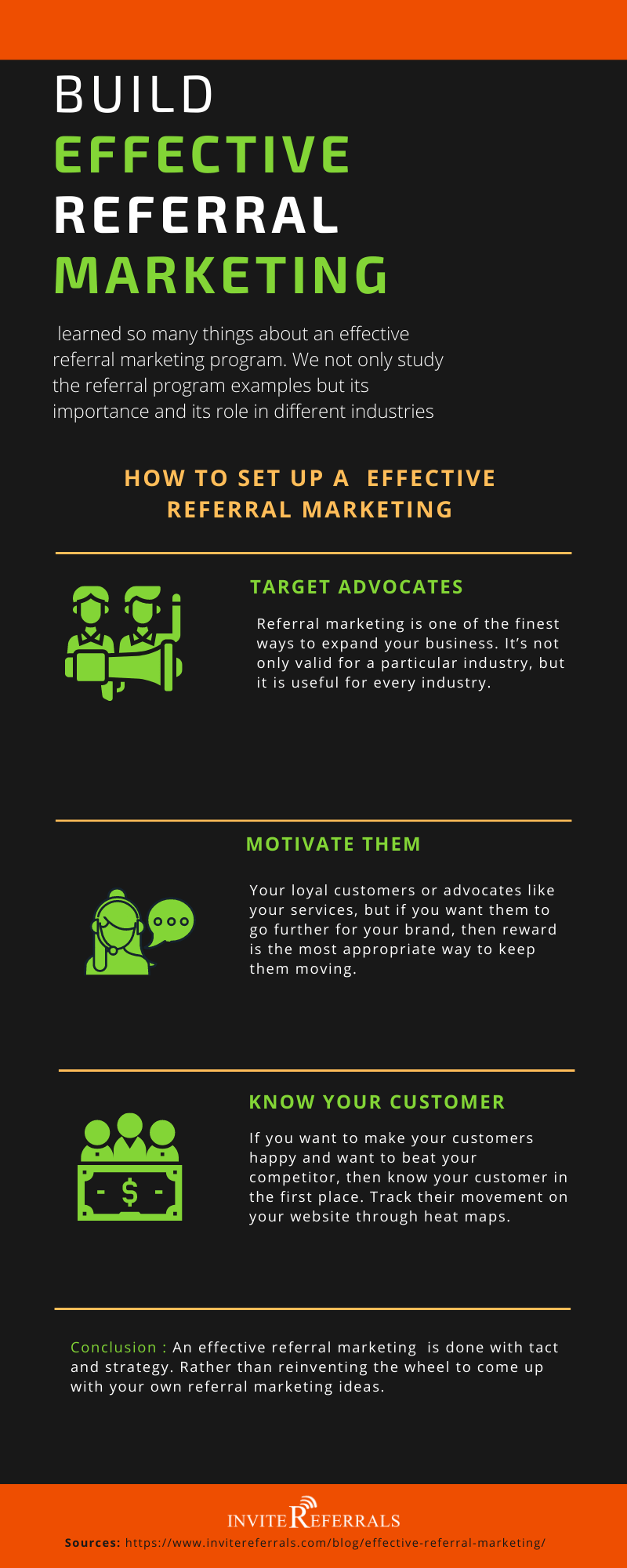 effective referral marketing infographic