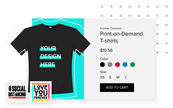 Design and market print-on-demand t-shirts