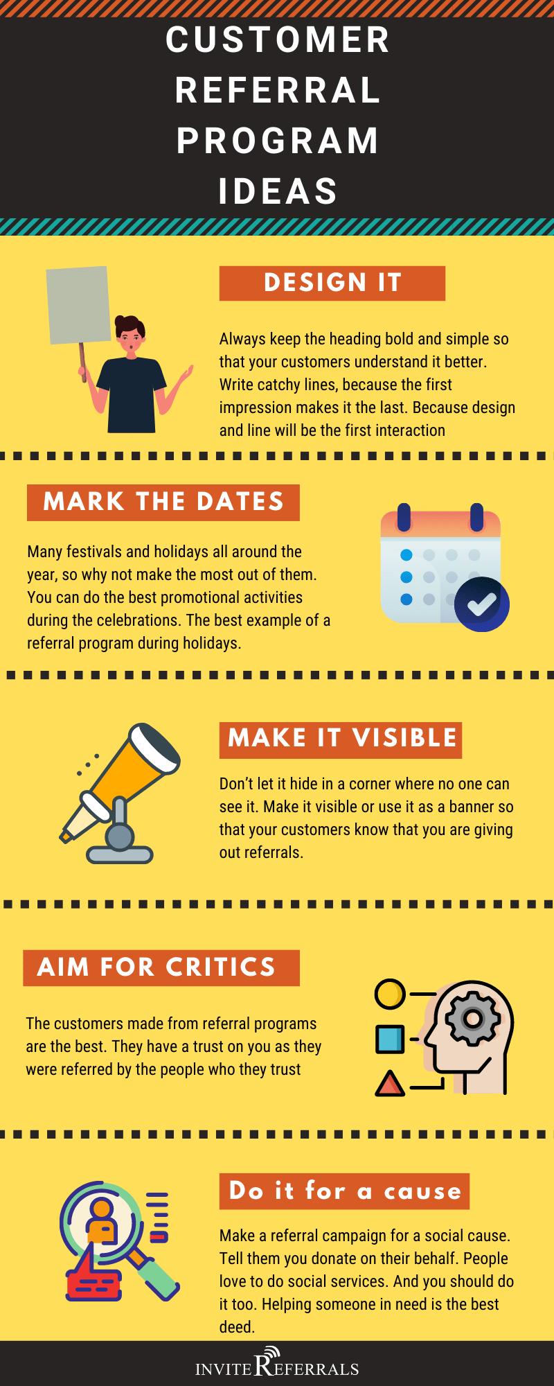 referral program ideas infographic