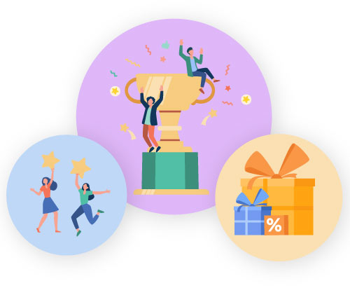 Grant incentives and rewards for customer loyalty.