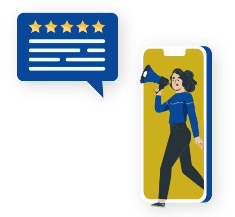 Ask for ambassador feedback: