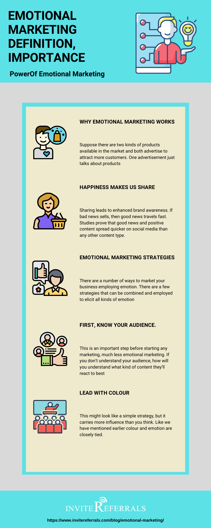 Emotional marketing infographic